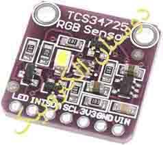 تشخیص رنگ TCS34725 RGB sensor ماژول